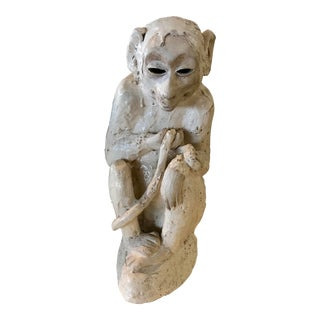 Ceramic Monkey Sculpture For Sale