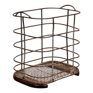 French Iron and Metal Industrial Bin or Trolley For Sale