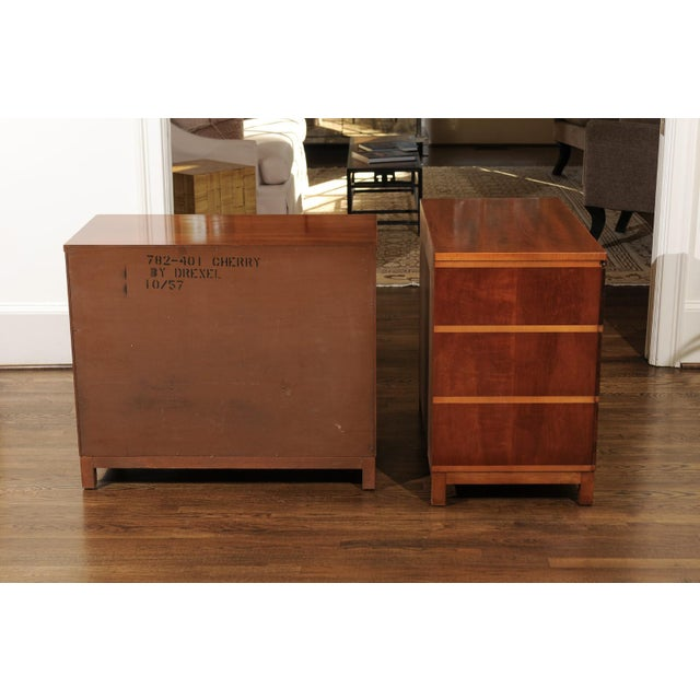 Chic Restored Pair of Michael Taylor Style Chests, Circa 1957 For Sale - Image 11 of 13