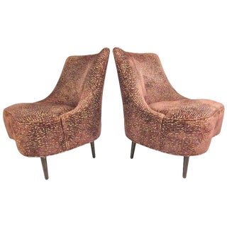 Pair of Vintage Dunbar Slipper Chairs by Edward Wormley For Sale