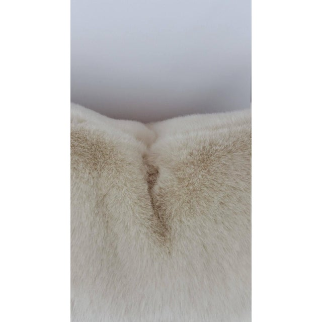 Kravet Kravet Bewitching Cream Faux Fur Pillow Cover For Sale - Image 4 of 5