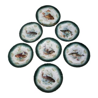 Royal Bavaria Fish Plates Made in Germany - Set of 7 For Sale