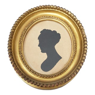 19th Century Silhouette Portrait of a Young Woman For Sale