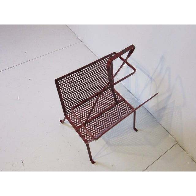 Red Mathieu Mategot Magazine Rack Made in France For Sale - Image 8 of 9
