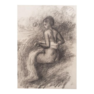 1959 Renoir, After the Bath, Large Vintage Lithograph For Sale