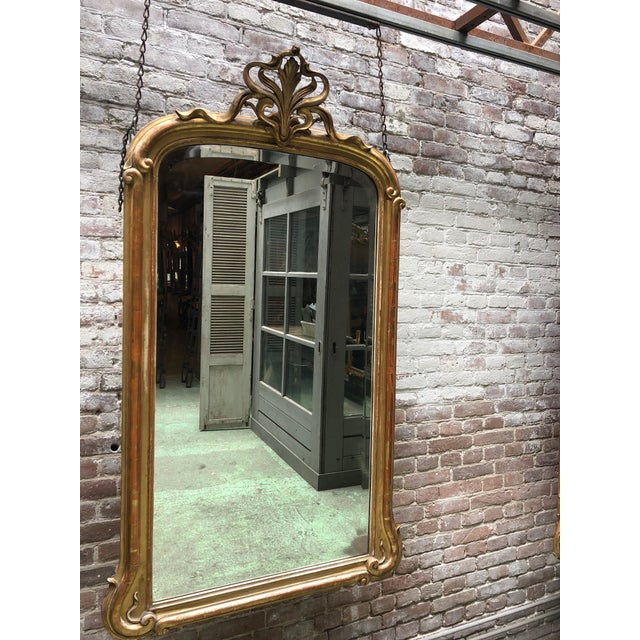 Glass Art Nouveau Mirror For Sale - Image 7 of 7