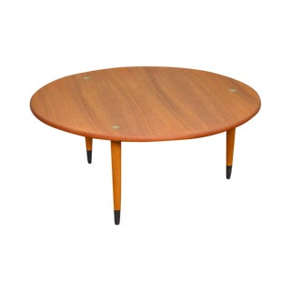 Dux Danish Modern Swedish Teak Round Coffee Table