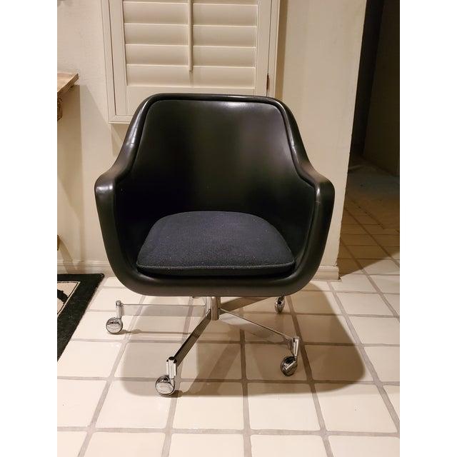 Ward Bennett Classic Black Office Desk Chair for Brickel Associates For Sale - Image 13 of 13