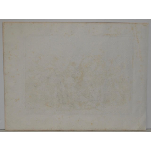 """Paper Bartolomeo Pinelli Engraving """"Killed in Betrayal"""" c. 1818 For Sale - Image 7 of 7"""