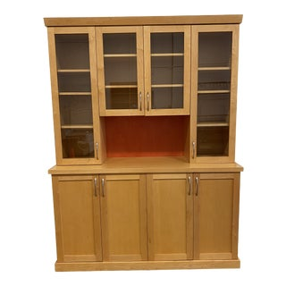 Custom Design Display Maple Hutch For Sale