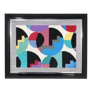Framed 1980s Postmodern Yarn Painting For Sale