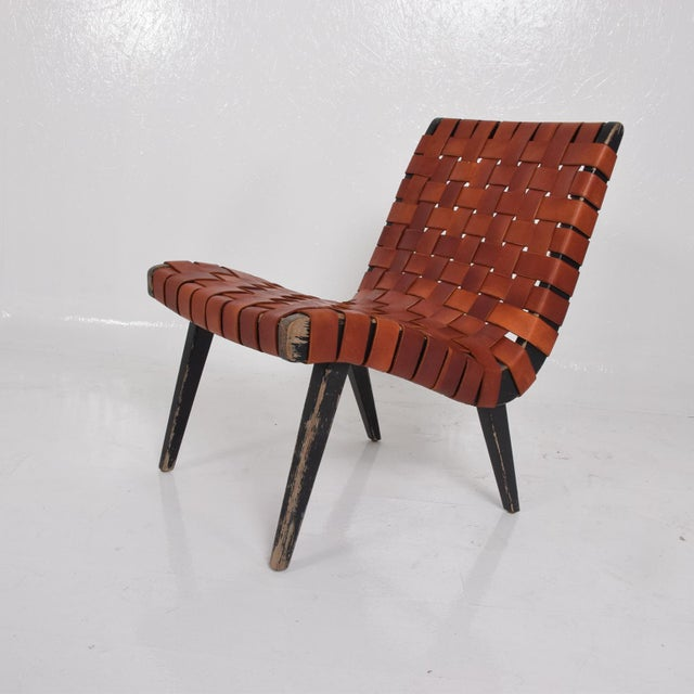 1980s Pair of Jens Risom Lounge Chairs for Knoll For Sale - Image 5 of 12