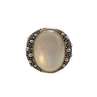 Sterling Michael Dawkins Mother of Pearl Ring For Sale