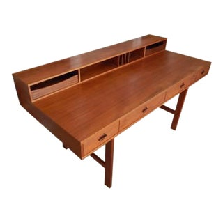 Mid-Century Modern Peter Lovig Nielsen Flip-Top Partner Desk For Sale