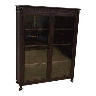 Antique Mahogany Locking Bookcase