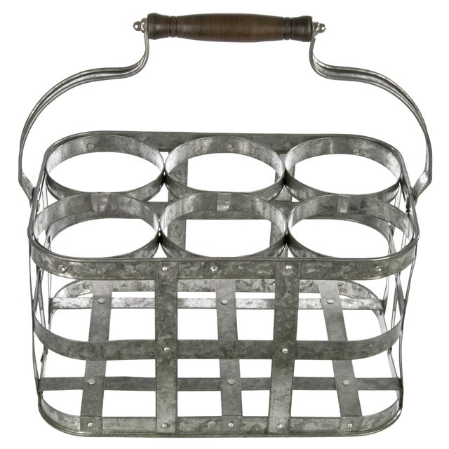 Galvanized Bottle Carrier - Image 1 of 3