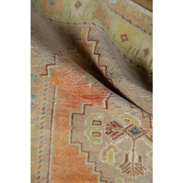"""Old New House Vintage Distressed Oushak Rug - 1'10"""" X 3'4"""" For Sale - Image 4 of 7"""