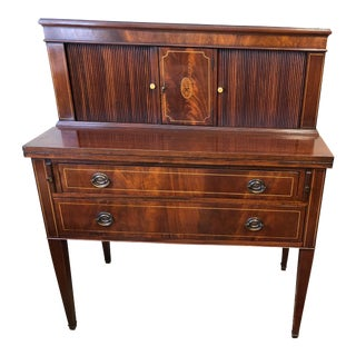 Neoclassical Style Wooden Writing Desk For Sale