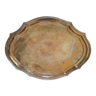 Indian Brass Serving Tray For Sale