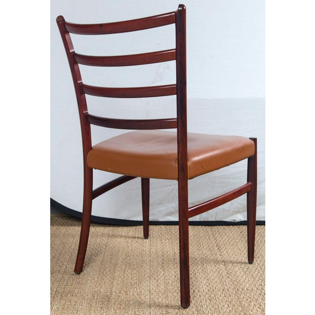 Rosewood Rosewood Game Table & 4 Chairs For Sale - Image 7 of 13
