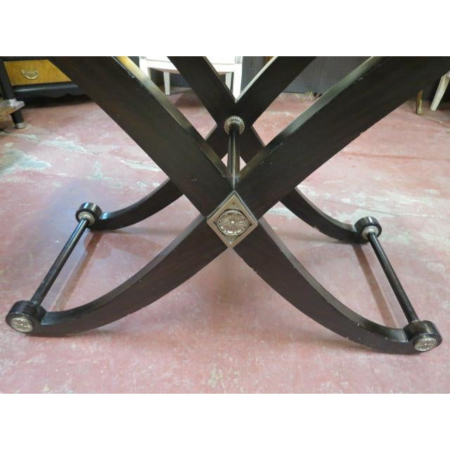 Black 1990s Neoclassical Maitland-Smith X Base Bar Table/Console Table For Sale - Image 8 of 9