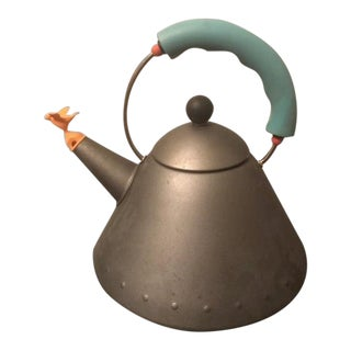 Michael Graves Anodized Gray Whistling Tea Kettle by Alessi For Sale