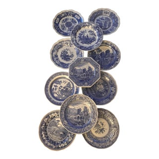 The Spode Blue Room Collection Plates - Set of 11