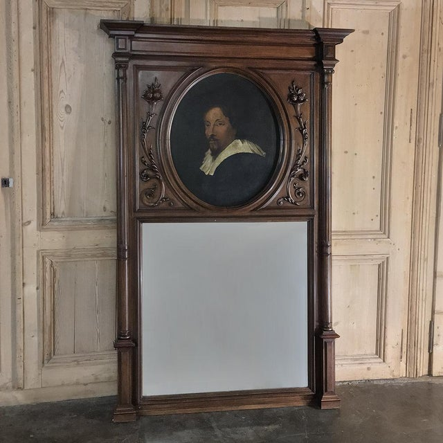 Trumeau, 19th Century French Henri II in Walnut For Sale - Image 4 of 12