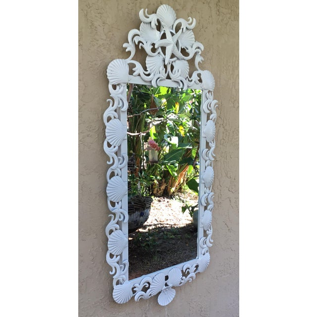 Seashell Iron Mirrors - a Pair For Sale - Image 11 of 13