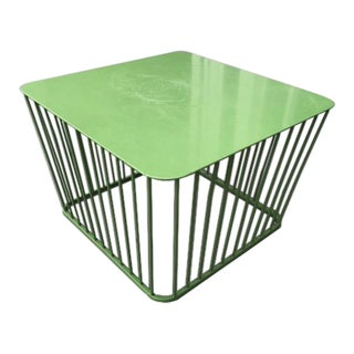Contemporary Cb2 Wire Outdoor Coffee Table For Sale
