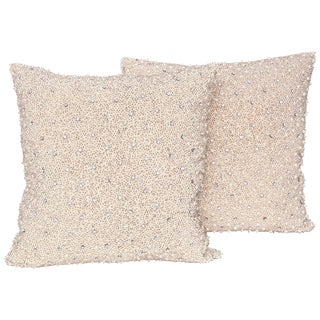 Pearl and Rhinestone Embellished Pillows - a Pair For Sale