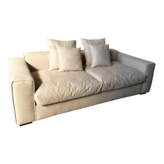 Modern Low Slung Sofa | Chairish