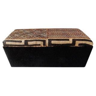 Kuba & Mud Cloth Ottoman For Sale