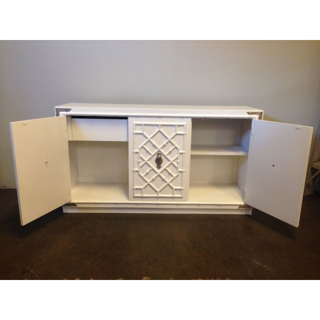 Thomasville Faux Bamboo Credenza - Image 6 of 8