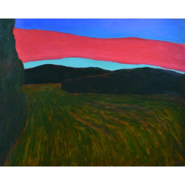 """""""Sunset Over Tilled Fields"""" Large Painting by Stephen Remick For Sale - Image 11 of 11"""