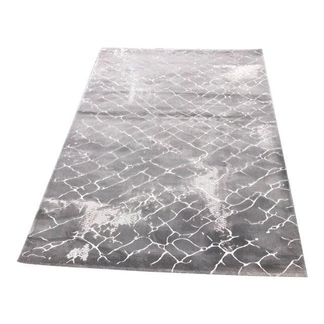 Faded Floor Design Gray Rug - 5'x8' - Image 1 of 6