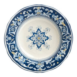 Pasta/Soup Bowl, Full Design, Antico Deruta For Sale