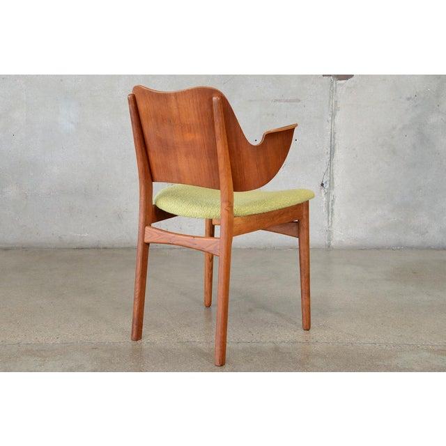 Hans Olsen Bent Teak & Oak Arm Chair - Image 6 of 8