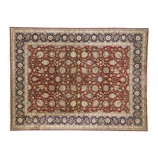 Vintage Persian Design Rug With Traditional Style - 08'10 X 11'09 For Sale