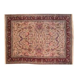 "Leon Banilivi 1970's Signed Persian Royal Tabriz Carpet, 11'5"" X 15'5"" For Sale"