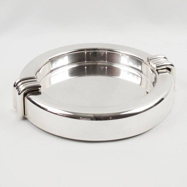 Christian Dior Mid-Century Silver Plate Cigar Ashtray - Image 6 of 7