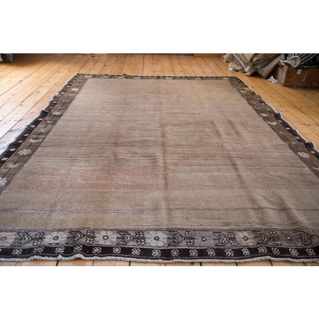 """Distressed Oushak Carpet - 7' X 9'1"""" For Sale - Image 4 of 11"""