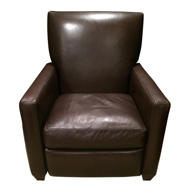 Crate and Barrel Leather Recliner - Image 1 of 3