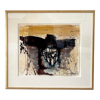 Framed Abstract Monotype