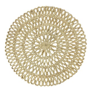 Woven Round Placemats/Chargers, S/8 For Sale