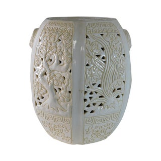 Oriental Vintage Pottery Garden Seat For Sale