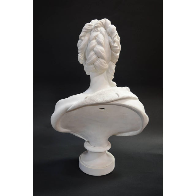 Late 19th Century Bisquit Bust of Marie Antionette For Sale - Image 5 of 7