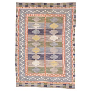 1920's Vintage Swedish Märta Måås-Fjetterström Rug-6'8'x10'4' For Sale