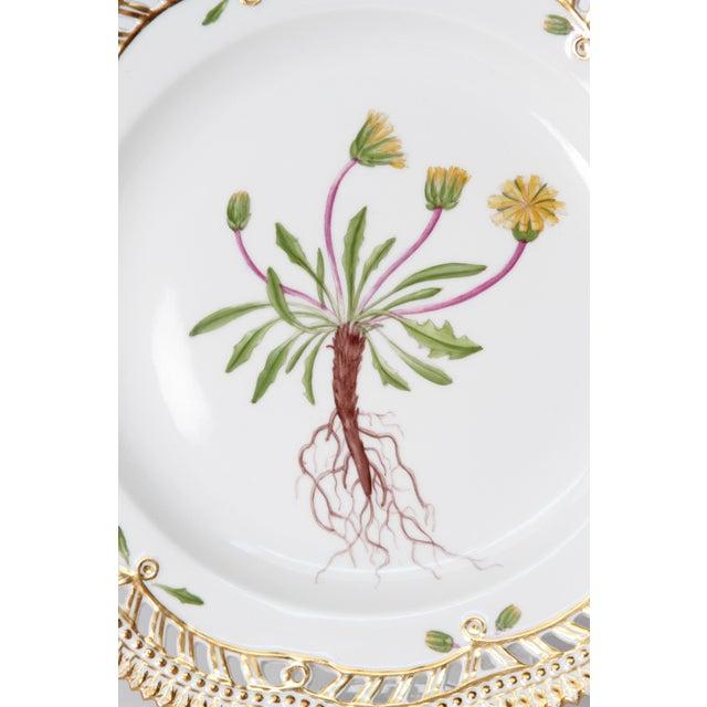 Gold Royal Copenhagen Flora Danica Pierced Plates #20/3554 For Sale - Image 8 of 13