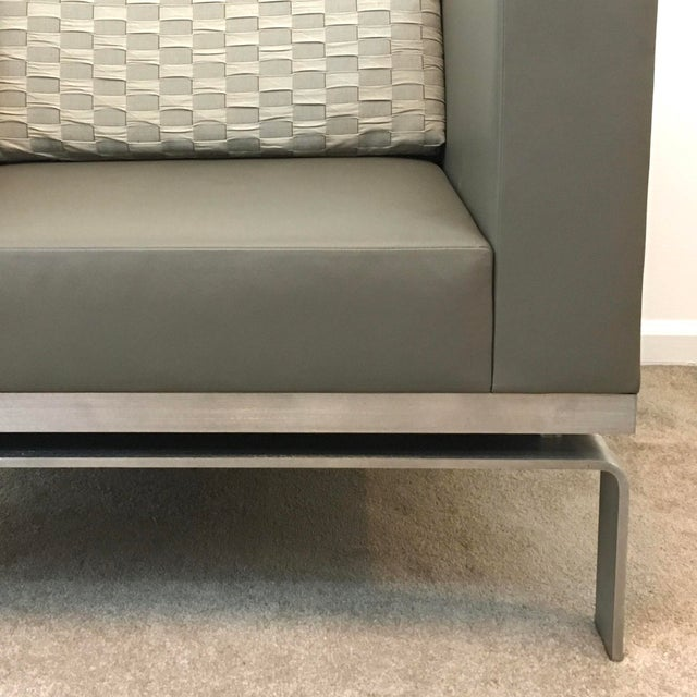 Leather & Steel Club Chair - Image 2 of 8